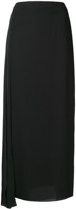 Chanel Pre Owned Draped Midi Skirt