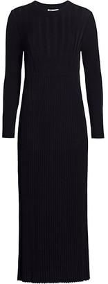 Max Mara Nausica Ribbed Knit Midi Dress