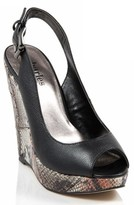 Charles David Women Cobra Slingback Wedges 7 B US