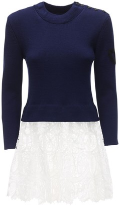 Patou Guipure Breton Knit Sweater