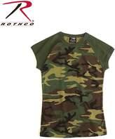 Rothco Short Sleeve Camo Raglan T-Shirt, Woodland Camo - X Large