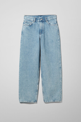 Weekday Rail Mid Loose Straight Jeans - Blue