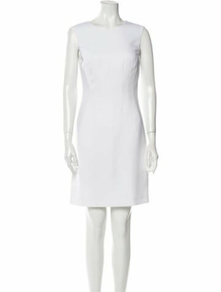 Versace Crew Neck Mini Dress w/ Tags White