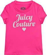 Juicy Couture Hot Pink Silver Sequin Logo Tee