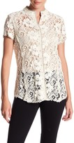 Johnny Was Lace Short Sleeve Blouse