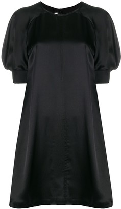 McQ puff-shoulder silk dress
