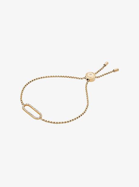 Michael Kors Pave Gold-Tone Slider Bracelet