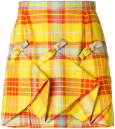 DELPOZO plaid ruched skirt