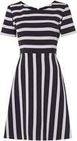 HUGO BOSS Amody fit and flare dress in open miscellaneous