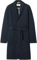 Oliver Spencer Loungewear - Quilted Cotton-Blend Jersey Robe