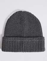 Marks and Spencer Ribbed Beanie Hat