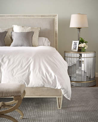 Century Furniture Taylor Faux-Shagreen King Bed