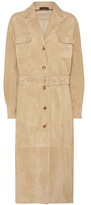 The Row Zoe suede coat