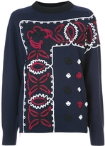 Sacai Bandana Embroidered Sweater