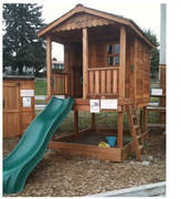 Outdoor Living Today Sunflower Playhouse with Sandbox