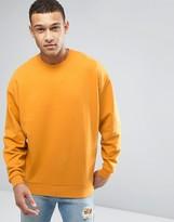 Asos Oversized Sweatshirt In Yellow
