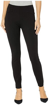 Liverpool Reese Seamed Pull-On Leggings in Super Stretch Ponte (Black) Women's Casual Pants