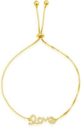 ADORNIA 14K Gold Vermeil Love Bolo Bracelet