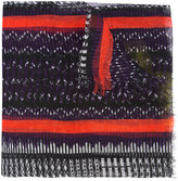 Issey Miyake tribal scarf - women - Linen/Flax - One Size