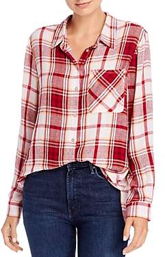 Aqua Long-Sleeve Plaid Button-Down Shirt - 100% Exclusive