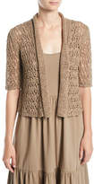 Joan Vass Tape Yarn Knit Cardigan, Petite