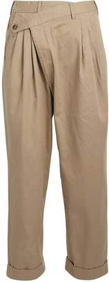 R 13 Crossover Pleated Cotton Trousers