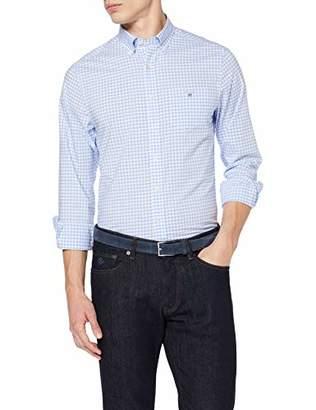Gant Men's The Broadcloth Gingham Reg Bd Casual Shirt,S