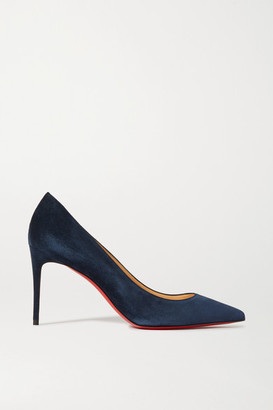 Christian Louboutin Kate 85 Suede Pumps - Navy