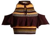 Apiece Apart Striped cotton-blend knit top