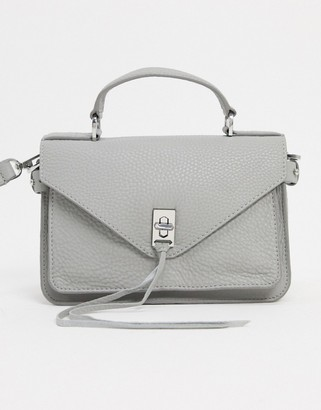 Rebecca Minkoff darren small leather messenger bag in white