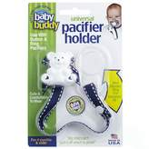 Baby Buddy Universal Pacifier Holder, Navy with White Stitch by
