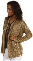 MICHAEL Michael Kors Mohair Blend Embellished L/S Drape Neck Cardigan