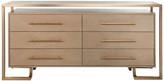 Safavieh Rowen 6-Drawer Dresser, Weathered Oak/Brass