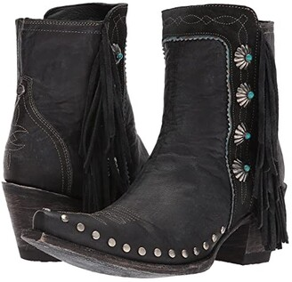 Double D Ranchwear by Old Gringo Apache Kid (Black) Cowboy Boots