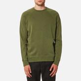 YMC Men's Schrank Raglan Sweatshirt Olive