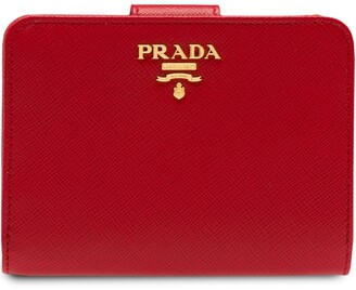 Prada Logo-Plaque Square Wallet