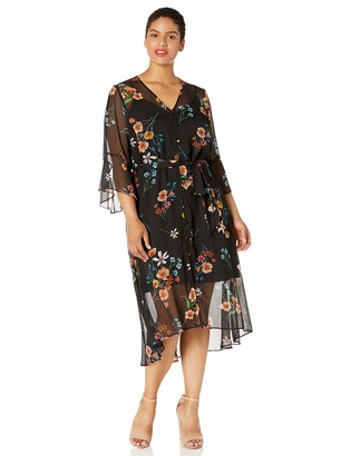 Rachel Roy Women's Plus Size Rosita Long Over Lean Dress