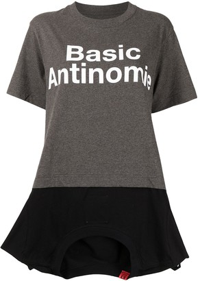 Maison Mihara Yasuhiro slogan print cotton T-shirt