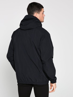 Nike Sportswear Half Zip Woven Hooded Jacket - Black