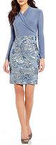 Marina Stretch Matte Jersey Sequined Dress