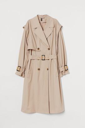 H&M Cotton Twill Trenchcoat