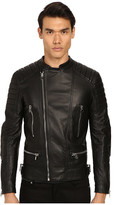 Philipp Plein Leather Motor Jacket