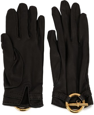 Hermes Pre-Owned Logo Charm Gloves