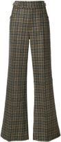 Marc Jacobs plaid flared trousers