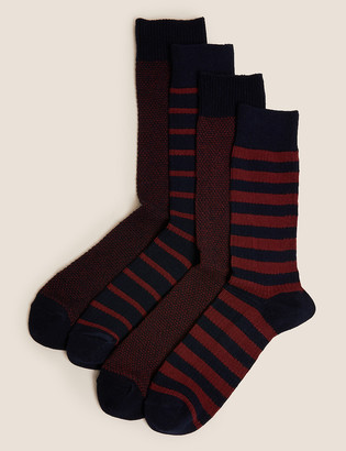 Marks and Spencer 4 Pack Assorted Socks