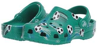 Crocs Classic Sport Ball Clog (Toddler/Little Kid) (Deep Green) Boy's Shoes