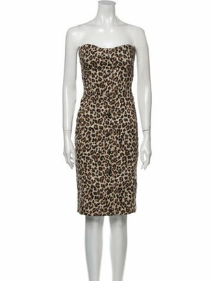 Veronica Beard Animal Print Mini Dress Brown