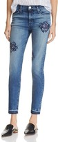 Hudson Nico Rose Embroidered Ankle Jeans in Composure - 100% Bloomingdale's Exclusive