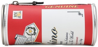 Moschino Capsule-theme Printed Leather Clutch