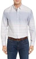 Tommy Bahama Ponte Vedra Ombré Check Cotton & Silk Sport Shirt